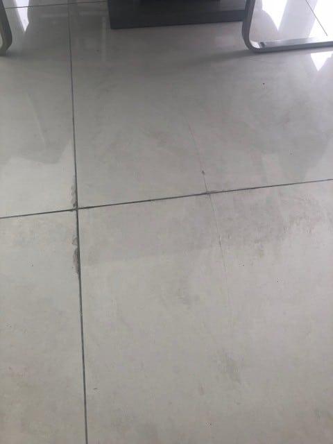Leak in tiles